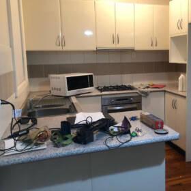 Уборка кухни после ремонта ДО