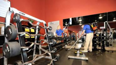 Уборка спорт клубов и фитнес центров
